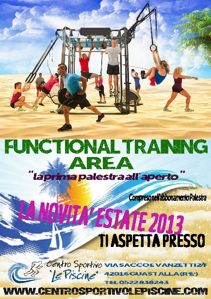 Cross training area estivo centro sportivo le piscine for Centro sportivo le piscine